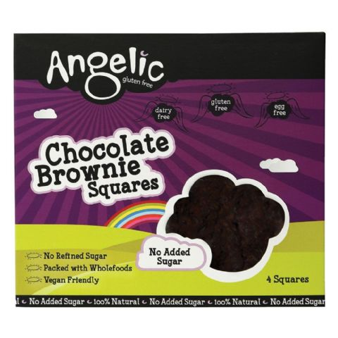 Chocolate Brownie Cake Squares 200g - Angelic Gluten Dairy No Added Sugar Free